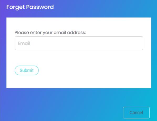 forget password box