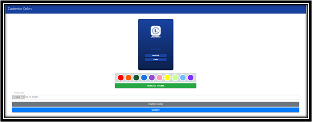 Customize Theme Color Page